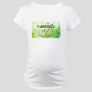 Namaste Greeting Maternity T-Shirt