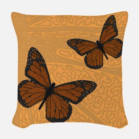 Monarch Woven Throw Pillow