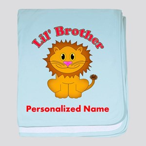 Little Brother Lion baby blanket
