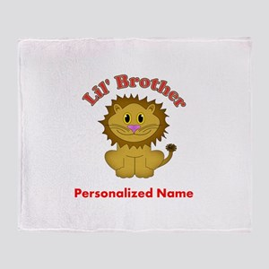 Little Brother Lion Throw Blanket