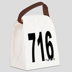 716 Buffalo Area Code Canvas Lunch Bag