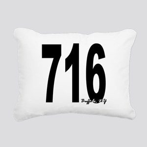 716 Buffalo Area Code Rectangular Canvas Pillow