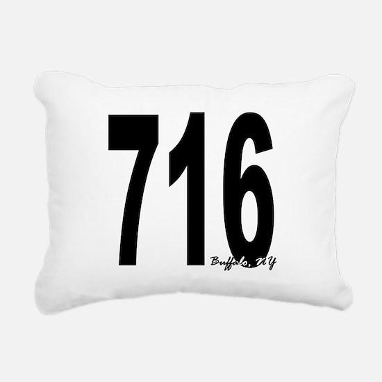 716 Buffalo Area Code Rectangular Canvas Pillow