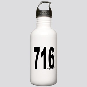716 Buffalo Area Code Water Bottle