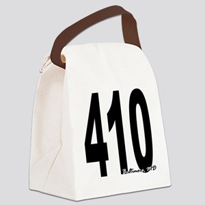 410 Baltimore Area Code Canvas Lunch Bag