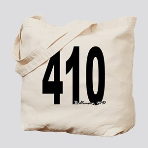 410 Baltimore Area Code Tote Bag