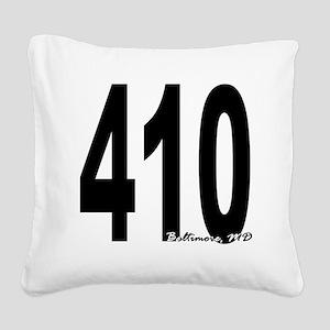 410 Baltimore Area Code Square Canvas Pillow