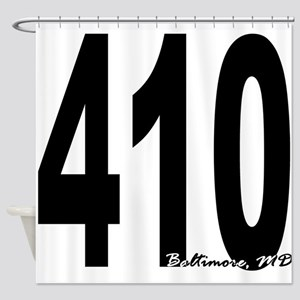 410 Baltimore Area Code Shower Curtain