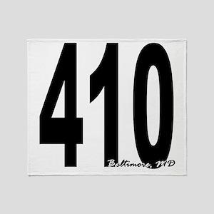410 Baltimore Area Code Throw Blanket