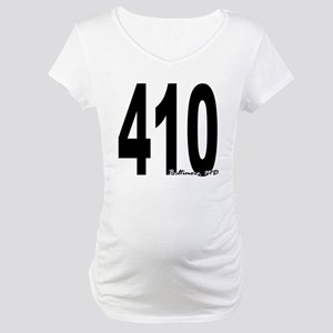 410 Baltimore Area Code Maternity T-Shirt