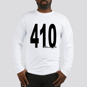 410 Baltimore Area Code Long Sleeve T-Shirt