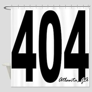 404 Atlanta Area Code Shower Curtain