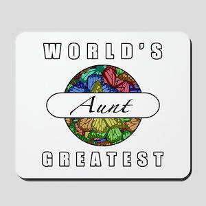 World's Greatest Aunt (Butterflies) Mousepad