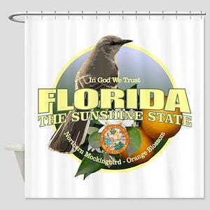 Florida State Bird Flower Shower Curtain