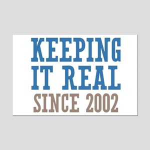 Keeping It Real Since 2002 Mini Poster Print