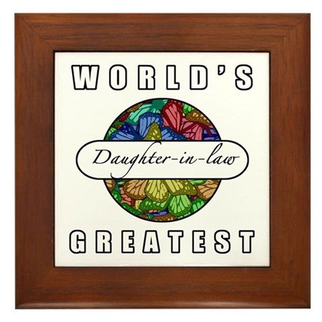 World's Greatest Daughter-In-Law (Butterflies) Fra
