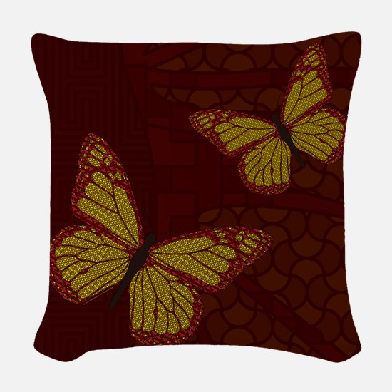 Chinese Monarch Woven Throw Pillow