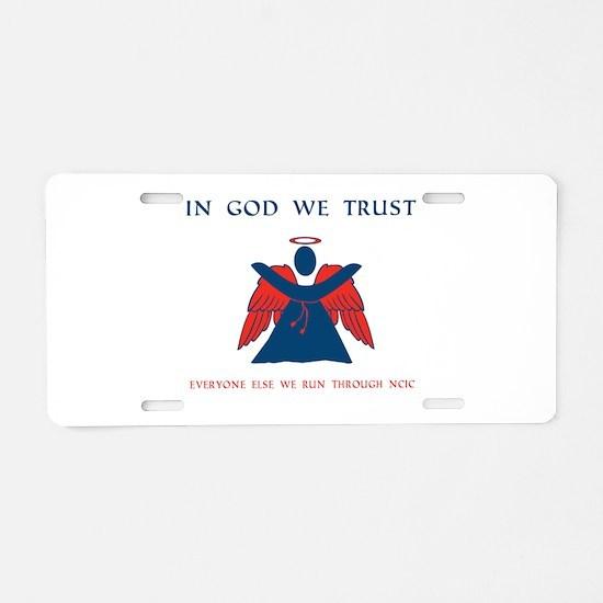 CASA Angel Trust Aluminum License Plate