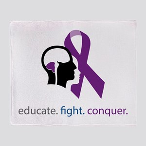 edu.fight.conquer Throw Blanket