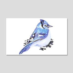 Original Watercolor Blue Jay 20x12 Wall Decal