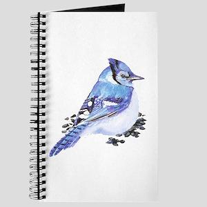 Original Watercolor Blue Jay Journal