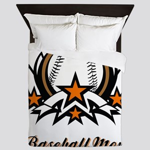 BASEBALL MOM Queen Duvet