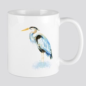 Watercolor Great Blue Heron Bird Mug