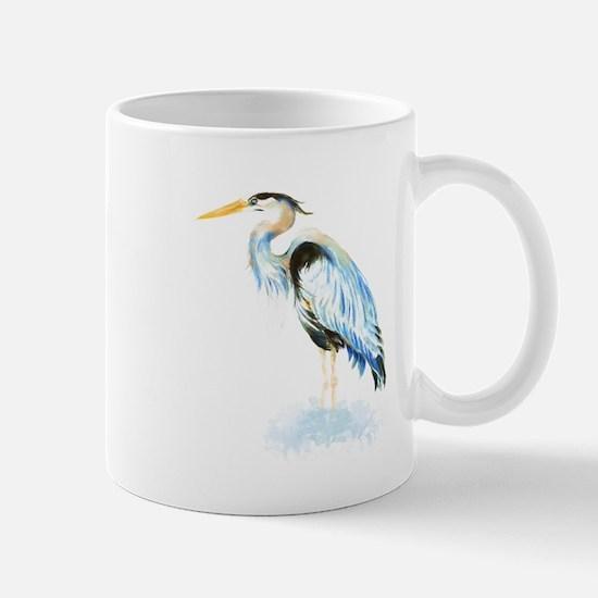 Watercolor Great Blue Heron Bird Mug
