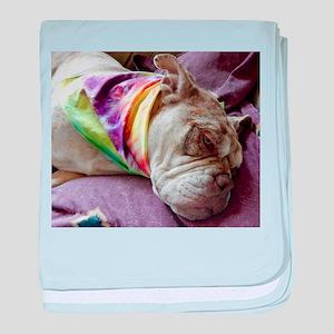 Sleepy Bulldog baby blanket