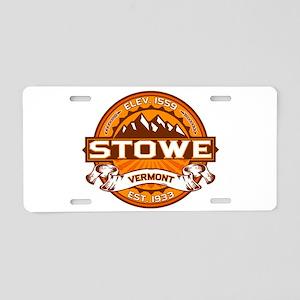 Stowe Tangerine Aluminum License Plate