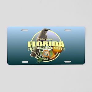 Florida State Bird & Flower Aluminum License Plate
