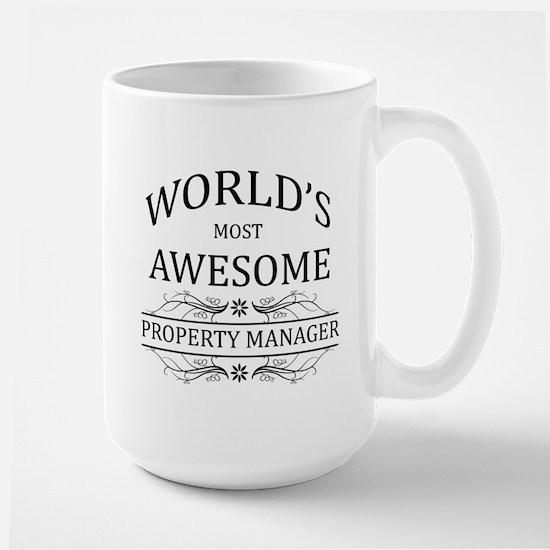 World's Most Awesome Property Manager Large Mug