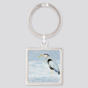 Watercolor Great Blue Heron Bird Keychains