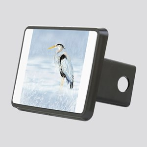 Watercolor Great Blue Heron Bird Hitch Cover