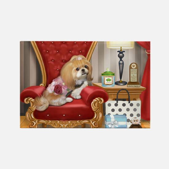 Shih Tzu- Mocha's Living Room Rectangle Magnet (10