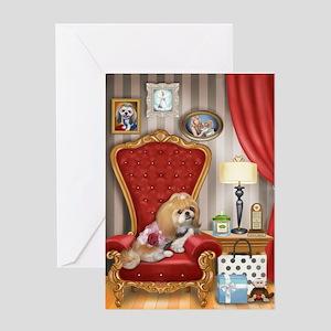 Shih Tzu- Mocha's Living Room Greeting Card