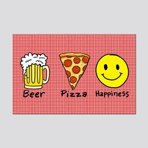 Beer Pizza Happiness Mini Poster Print