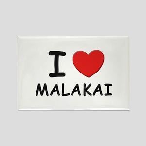 I love Malakai Rectangle Magnet