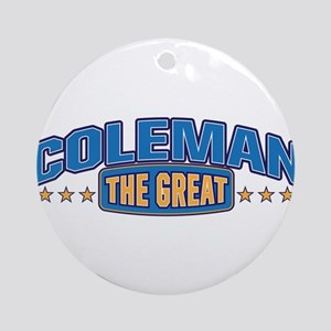The Great Coleman Ornament (Round)