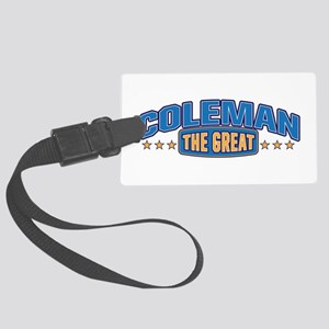 The Great Coleman Luggage Tag