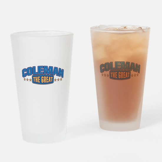The Great Coleman Drinking Glass