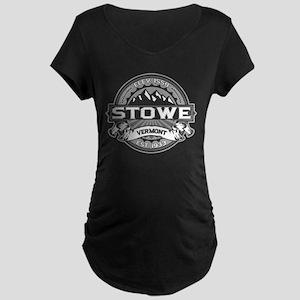 Stowe Gray Maternity Dark T-Shirt
