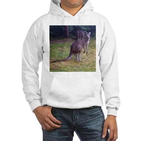 grey kangaroo Hooded Sweatshirt