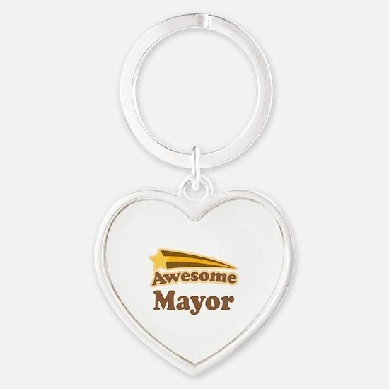 Awesome Mayor Heart Keychain