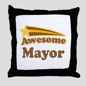 Awesome Mayor Throw Pillow