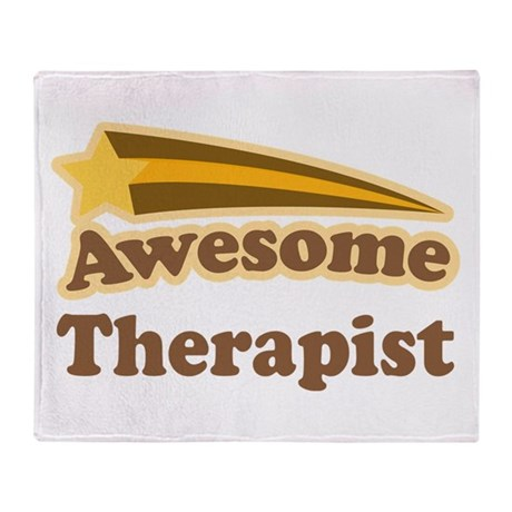 Awesome Therapist Throw Blanket