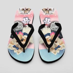 Yorkie Pamela Rose Flip Flops