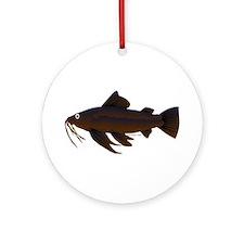 Armored Catfish fish Ornament (Round)