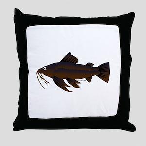 Armored Catfish fish Throw Pillow