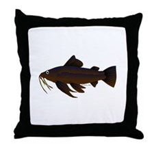 Armored Catfish fish Throw Pillow